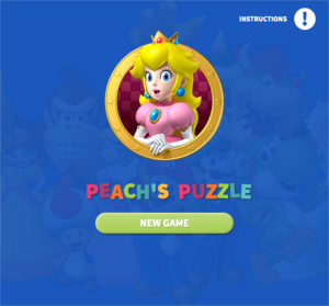 Peach's Puzzle title screen