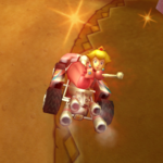 Peach performing a Trick in Mario Kart Wii