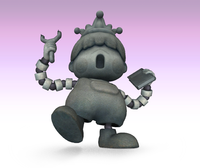 Porky Statue artwork in Super Smash Bros. Brawl