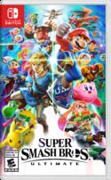 North American cover art of Super Smash Bros. Ultimate