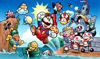 Artwork used for the Japanese and sometimes the European box art. Drawn by Shigeru Miyamoto, as referenced here, Part 4.