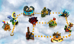 A screenshot from Donkey Kong Country Returns 3D