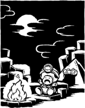 Illustration of The Hunt for the Great Bird's Lair part in Episode 1 of Captain Toad: Treasure Tracker.
