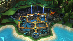 Map of Cave in Donkey Kong Country Returns
