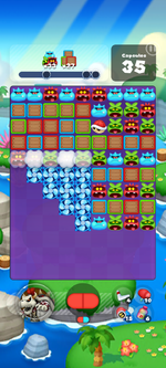 Stage 608 from Dr. Mario World
