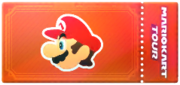 A driver Point-boost ticket from Mario Kart Tour