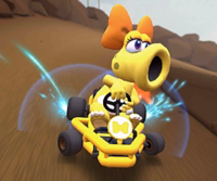 The icon of the Baby Luigi Cup challenge from the Peach vs. Daisy Tour in Mario Kart Tour