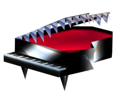Model of the Mad Piano from Super Mario 64