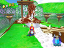 Mario fighting the Gatekeeper at Bianco Hills