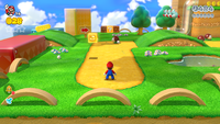 The graphics and user interface in the Wii U version (top) and the Nintendo Switch version (bottom)