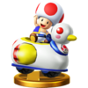 Toad + Quacker trophy from Super Smash Bros. for Wii U