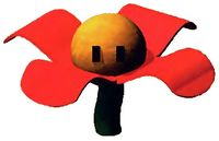 Artwork of a Spinning Flower from Super Mario RPG: Legend of the Seven Stars