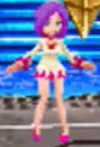 White Mage dressed in purple and pink