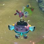 Baby Peach performing a trick. Mario Kart 8.