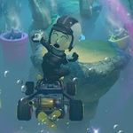 The female Mii's second trick in Mario Kart 8