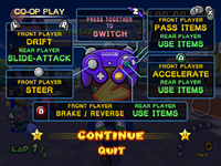 Co-op play controls.