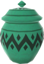 Rendered model of a Jar in Mario Kart Tour.