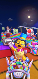 The New Year's 2021 Tour from Mario Kart Tour.