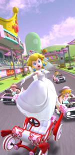 The Peach Tour from Mario Kart Tour