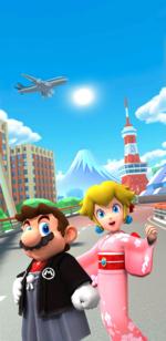Tokyo Tour introduction splash screen in Mario Kart Tour