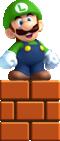 Small Luigi artwork from New Super Luigi U
