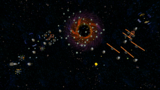 "A screenshot of Sling Pod Galaxy during the ""A Sticky Situation"" mission from Super Mario Galaxy."