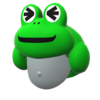"The ""Frog Cap"" Mii headwear"