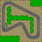 The map for Mario Circuit 1.