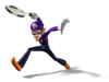 Artwork of Waluigi from Mario Power Tennis.