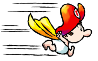 Artwork of Super Baby from Yoshi Touch & Go (later reused in Yoshi's Island DS)