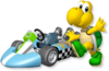 Artwork of Koopa Troopa with his kart from Mario Kart Wii