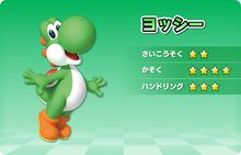 Artwork of Yoshi, for Mario Kart Arcade GP DX