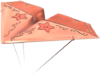 Pink Gold Paper Glider from Mario Kart Tour