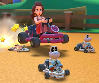 The Baby Peach Cup Challenge from the Baby Rosalina Tour of Mario Kart Tour