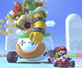 The Larry Cup Challenge from the Ice Tour of Mario Kart Tour