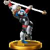 Sheik trophy from Super Smash Bros. for Wii U