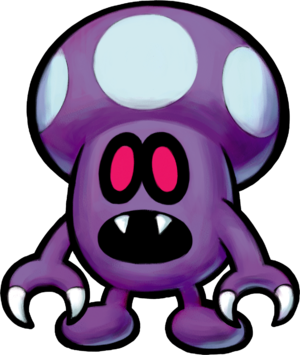 Artwork of a Shroob from Mario & Luigi: Partners in Time.